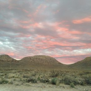 Sunset at the Three Sisters Ranch